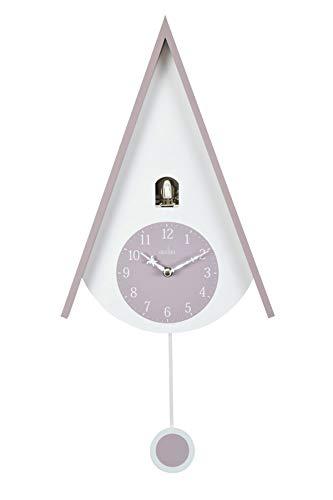 Acctim 'Lulea' - Reloj de pared (60 cm), diseño de cuco, color malva y blanco