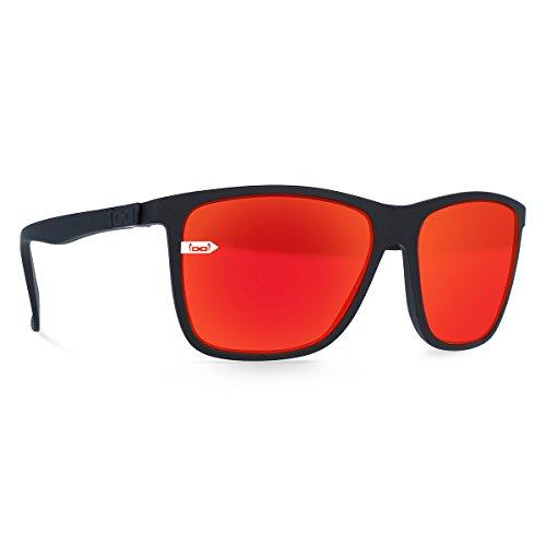Gloryfy unbreakable eyewear (Gi15 St. Pauli black) - Unzerbrechliche Sonnenbrille, Sport, Lifestyle, Damen, Herren, Schwarz-Rot