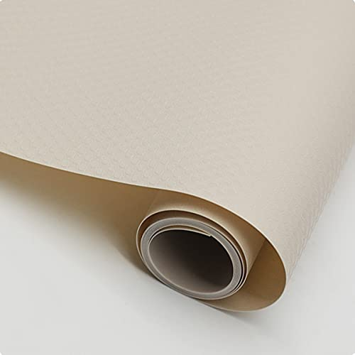 LEISHENT Shelf Liner Protect Indoor and Outdoor Protected Surfaces No Glue and Waterproof for Drawer,Shelf,Cupboard,Storage,Desk,Kitchen,Brown,0.45x15m