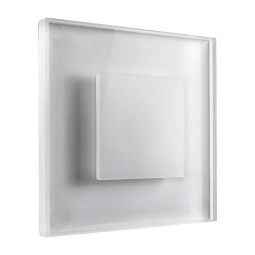 Kit d'éclairage d'escalier LED de qualité - Lumière blanche - Maximum 230 V - 3 W - Applique murale en verre de qualité - Applique à encastrer, blanc chaud, 1 Stk. 3.0watts