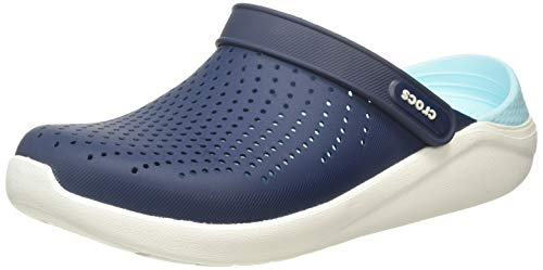 Crocs Men's and Women's LiteRide Clog | Athletic Slip On Comfort Shoes, Blue Navy Almost White 4ko, 45/46