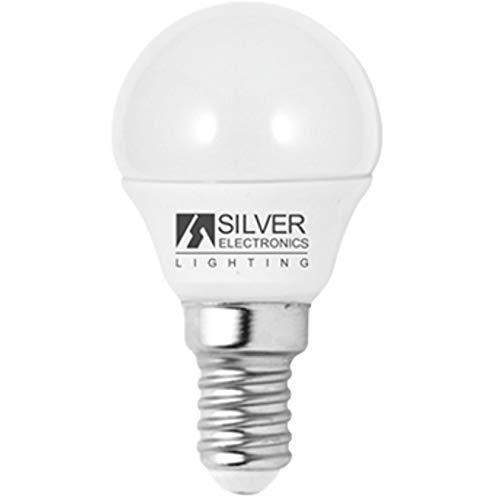 Silver Electronics 1960214 LED Eco Sphérique E14, 5 W, Blanc