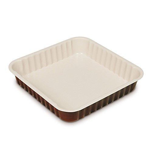 Guardini Chocoforme, Moule carré 24 x 24 cm, acier avec revêtement anti-adhérent, couleur crème-chocolat