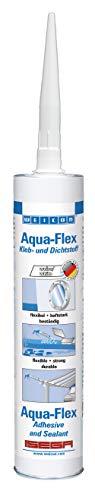WEICON Aqua-Flex / 310 ml / Klebstoff elastisch haftstark / zum Abdichten / weiß