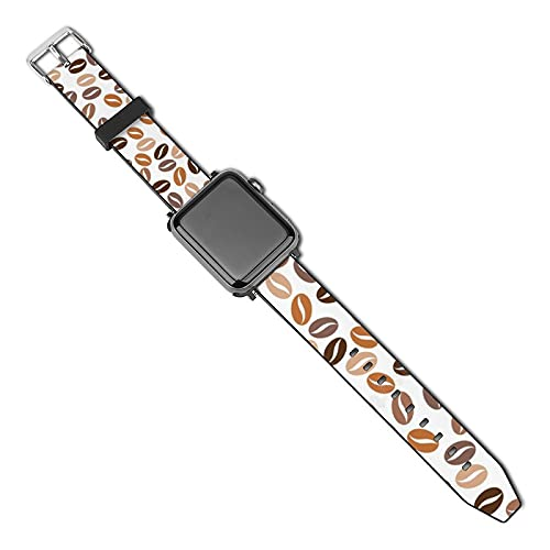 La última correa de reloj de estilo compatible con Apple Watch Band 38 mm 40 mm Correa de repuesto para iWatch Series 5/4/3/2/1, Coffee Stock Ilustraciones