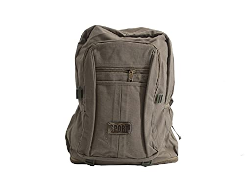 MH Mochila tela, Mochila de montaña, mochila deporte, gran capacidad,ligera,para viajes al aire libre 60L (VERDE OLIVA)