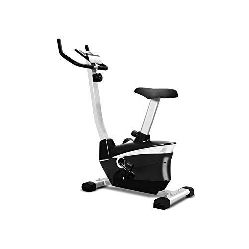 DJDLLZY Bicicletas estáticas, bicicletas de ejercicio aeróbico, bicicleta de spinning, LCD Pantalla ultra silencioso del hogar magnética de bicicleta de ejercicios de Entrenamiento (Color: Negro, Tama