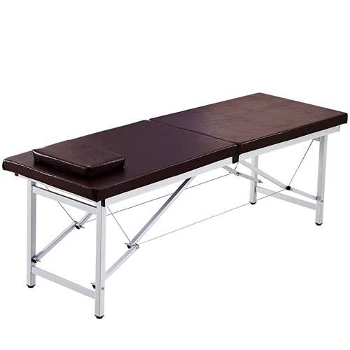 Lshbwsoif Mesa de masaje plegable plegable para salón, cama de masaje, mesa de masaje portátil (tamaño: 185 x 70 x 60 cm, color: 4)