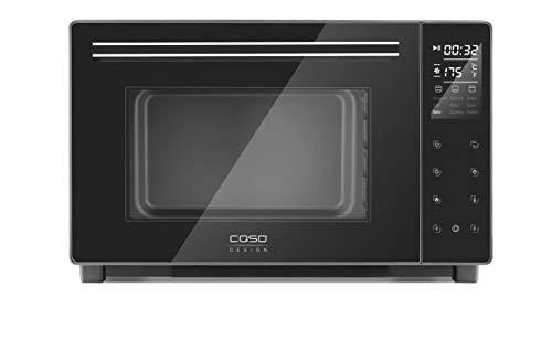 CASO TO32 electronic, Design- Ofen, Backofen mit ca. 32l Garraum, 5-fach Funktion: Heißluft, Drehspieß mit Motor, Oberhitze, Unterhitze, Ober- und Unterhitze, inkl. Pizzastein