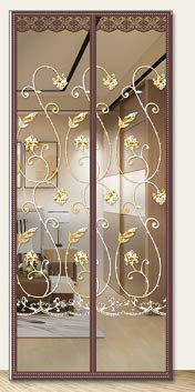Anti-Moskito-Türvorhang Hochwertige magnetische automatische Adsorption Sommer Schlafzimmer Haushalt Bildschirm Tür Magnet Doppel-Saug-Trennwand Bildschirm Vorhang Anti-Moskito-Türgarn A1 B110xH210
