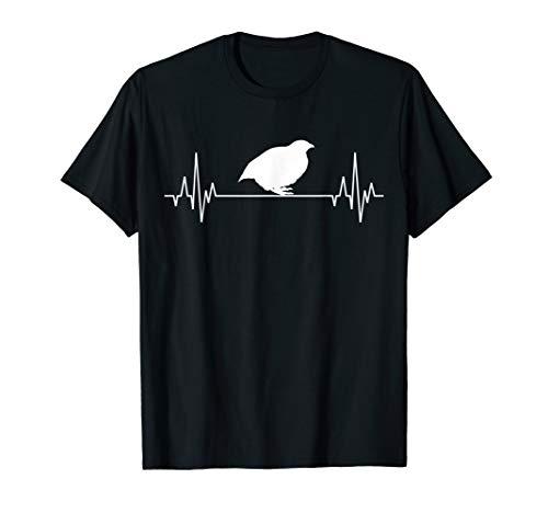 Wachtel Wachtelzucht Herzschlag Geflügel Geflügelzüchter T-Shirt