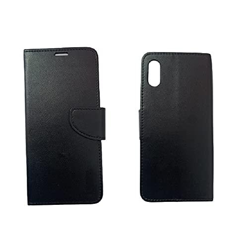 LulivoStore Cover Custodia Libro Flip Magnetica Portafoglio Simil Pelle Stand Compatibile per XIAOMI REDMI 9AT (Nero)