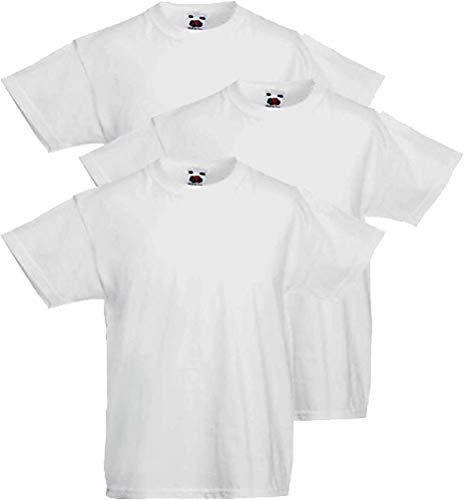 Fruit of the Loom 3 camisetas para niño Valueweight (12-13