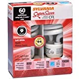 Sylvania CFL - CF13EL/MICRO/835/RP3 Twist Medium Screw Base Compact Fluorescent Light Bulb - 13W (60W Equivalent) - Soft White (2700K) - 8-pack