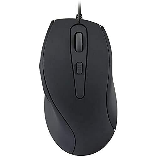 Speedlink AXON Silent und Antibacterial Mouse - Leise & antibakterielle Maus mit USB-Anschluss - schwarz