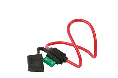 WirthCo 31820 Battery Doctor in-Line Water-Resistant ATO/ATC Blade Fuse Holder with Cover 12 AWG