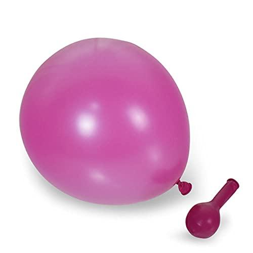 POTTBONS Globo, mate, látex, 10 pulgadas 2.2 gramos, 24 colores, globos redondos, adecuado para cumpleaños, fiestas, bodas (100 piezas) -deep rose red