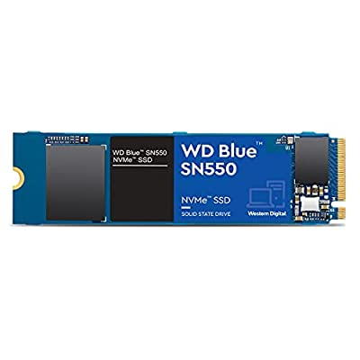 WD Blue SN550 500GB NVMe Internal SSD - Gen3 x4 PCIe 8Gb/s, M.2 2280, 3D NAND, Up to 2,400 MB/s - WDS500G2B0C by Western Digital