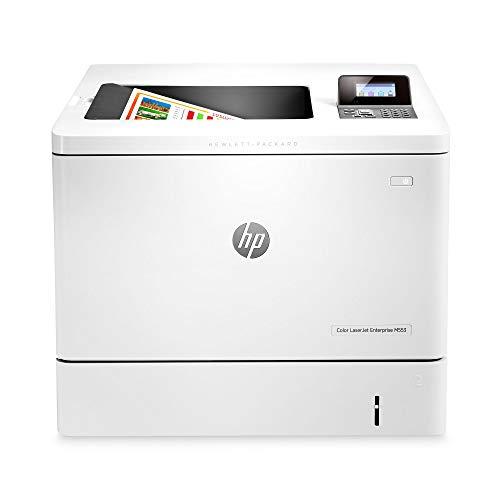 HP B5L24A#BGJ LaserJet Enterprise M553n Color Laser Printer with Built-in Ethernet (B5L24A), White, 18.9 x 18 x 15.7 inches
