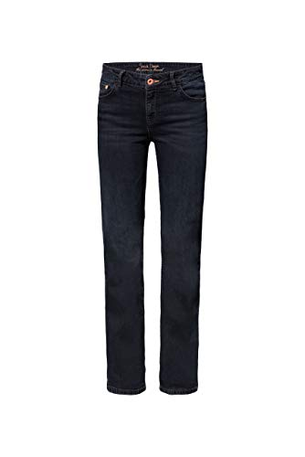SOCCX Damen Comfort Shape Jeans EL:KE mit Vintage-Waschung