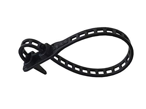 netproshop 10 x Soft Flexbinder Pflanzenbinder Kabelbinder 7x180mm Schwarz