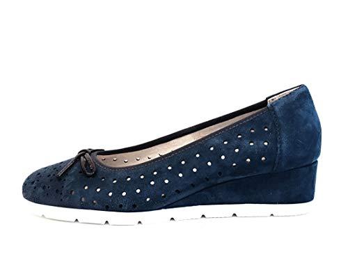 CINZIA SOFT IV12316SC-002 - Pantalones elásticos para mujer, color azul Azul Size: 39