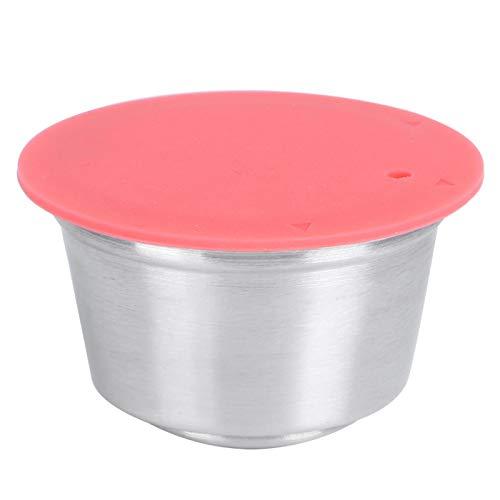 Filiżanka do kapsułki kawy, wielokrotnego użytku ze stali nierdzewnej kubek do kapsułki kawy dopasowany do ekspresu do kawy Dolce Gusto (czerwony)