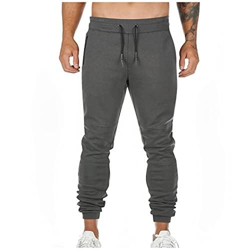 WXZZ Herren Sporthose Fitness Hängetuch Taillengürtel Trainingshosen Kleine Füße Hose Track Pants Sweat-Trousers Jogginghose Slim Fit Joggingbroek