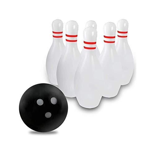 SXGKYY Riesiger Aufblasbarer Bowling-Set for Kinder Im Freien Rasen Gartenspiel for Familie Jumbo Pins 16