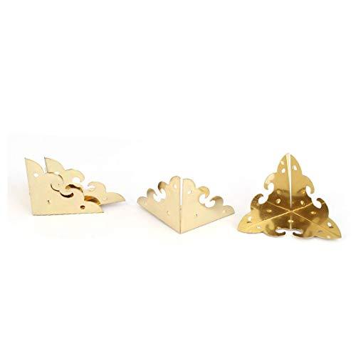 New Lon0167 Triangle Corner Destacados Protector Gold Tone eficacia confiable 4pcs para Box Case(id:2c4 44 ee 03b)