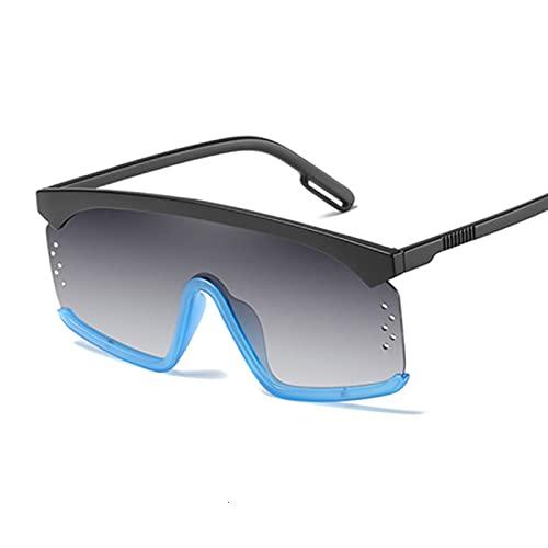 Gafas de sol cuadradas grandes de plástico de moda retro tendencia oversize compras al aire libre Sunshade gafas de sol Blackblue