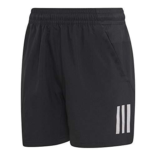 adidas Juniors' 3-Stripes Club Tennis Shorts, Black/White, XX-Small