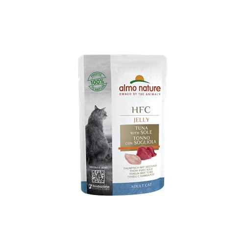 Almo Nature HFC Jelly Thunfisch Und Seezunge Katzennassfutter 24er Pack (24 x 55 g)