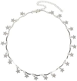 Women's Necklace Five Pointed Star Decoration Solid Color Faddish Necklace Accessory