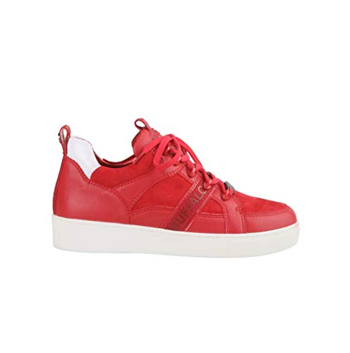 Buffalo Damen Sneaker Catcher Lead, Frauen Low Top Sneaker, Ladies feminin elegant Women's Women Woman Freizeit leger Halbschuh,Rot(RED),38 EU / 5 UK