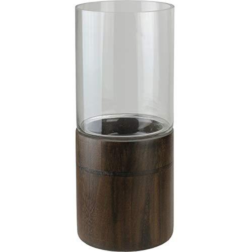 Northlight Seasonal 15.25 in. Glass Hurricane Pillar Candle Holder
