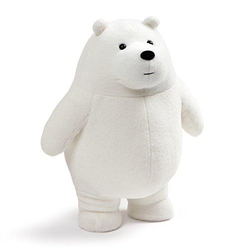 GUND We Bare Bears Standing Ice Plush Stuffed Bear, White, 11'