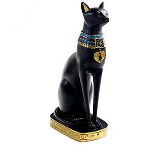 Ägyptische Katze Ornamente exotische Zoll Harz Statue Dekor Ägypten alte Göttin Bastet für Zuhause, Büro, Desktop, Restaurant, Hotel, Auto, Party Dekoration, Geschenke