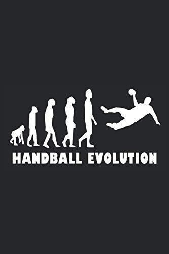 Handball Evolution: Notizbuch mit 120 Seiten (liniert), 6x9 inches (15,24 x 22,86 cm)
