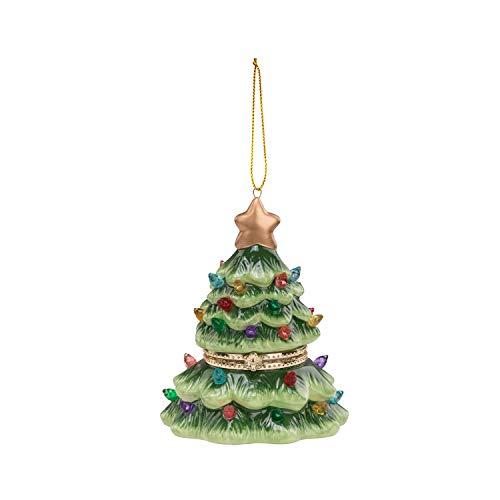 Mr. Christmas Porzellan-Spieluhr Weihnachtsdekoration, Grün