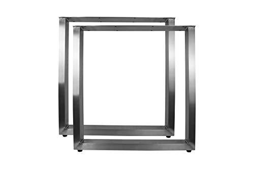 Tischbeine Edelstahl Tischkufen Tischgestell Tischuntergestell Set, Ausführung:U-Tischbeine 720x700mm