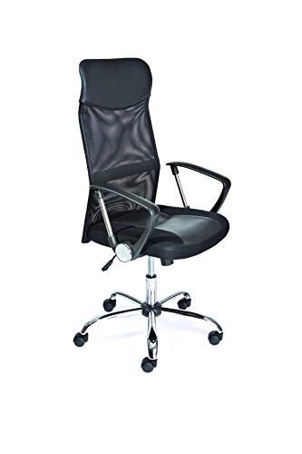 Inter Link Drehstuhl Bürodrehstuhl Schreibtischstuhl Chefsessel Metall Polyurethane schwarz