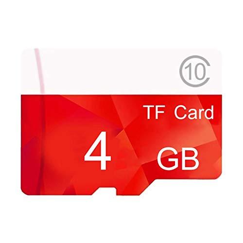 Scheda di Memoria + Adattatore SD, Scheda di Memoria Flash Classe 10 ad Alta velocità da 1GB-512GB, schede di monitoraggio Video ad Alta Resistenza per telefoni cellulari, Tablet PC, Fotocamere