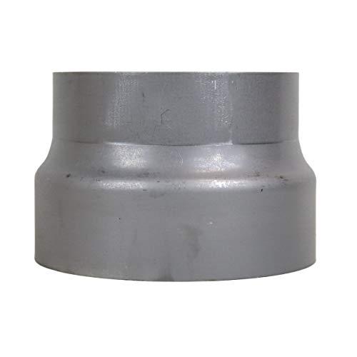 LANZZAS Rauchrohr Ofenrohr Reduzierung Ø 200 mm auf Ø 180 mm unlackiert Stahl Blank Kamin Rohr Ofenrohrreduzierung