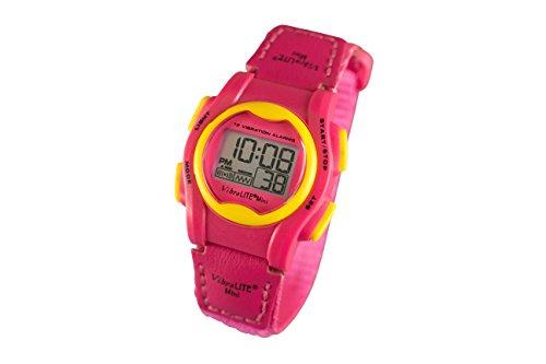 VibraLITE Mini 12-Alarm Vibrating Watch - Pink