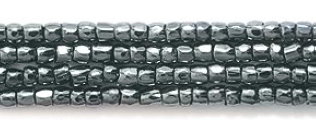 Preciosa Ornela Czech 3-Cut Style Seed Glass Bead, 12/0-Size, Luster Gunmetal