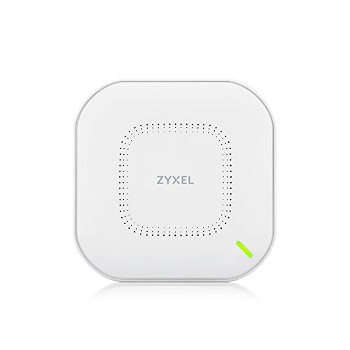 Zyxel True WiFi6 Wireless Access Point (802.11ax Dual Band), 1.77 Gbps with Quad Core CPU and Dual 2x2 MU-MIMO Antenna, Manageable via Nebula APP/Cloud or Standalone [NWA110AX]