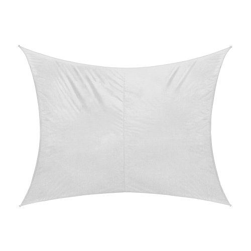 jarolift Voile d'ombrage Toile d'ombrage Rectangulaire Tissu Respirant 400 x 300 cm, Blanc crème