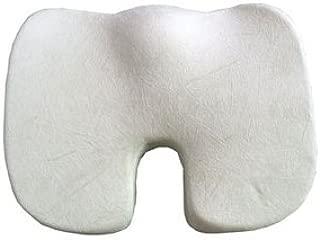 XUJI 100% Pure Memory Foam Luxury Seat Cushion, Orthopedic Design to Relieve Back, Sciatica and Tailbone Pain(Seat Cushion) (White)
