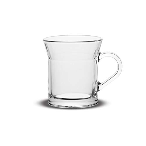 Vikko 10 Unzen Glas Kaffeetassen - dick und langlebig - für Kaffee, Tee, Cidre etc. - Mikrowellen- und spülmaschinenfest - 6er Set Klarglas Becher - Ø 8,9 cm x Höhe 9,9 cm